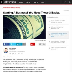 Starting A Business? You Need These 3 Basics.