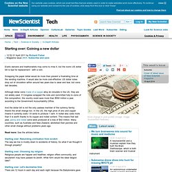 Starting over: Coining a new dollar - tech - 01 April 2011