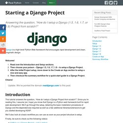 Starting a Django Project