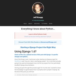 django start project Getting started with django django is right for your project django interface that content producers can immediately use to start managing content.