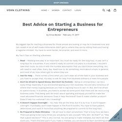 Best Advice on Starting a Business for Entrepreneurs – Voxn Clothing