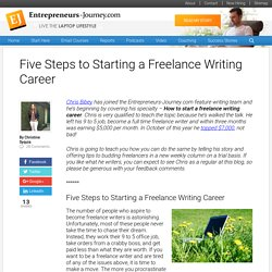 Five Steps to Starting a Freelance Writing Career
