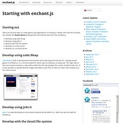 enchant.js - HTML5 + JavaScript Game Engine