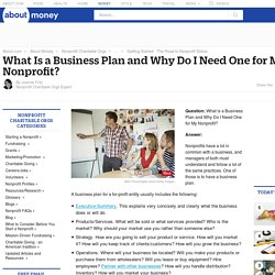 Starting a Nonprofit - How to Write Your Business Plan