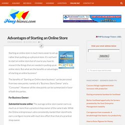 Pros of Starting an Online Store - Advantages of Starting an Online Store