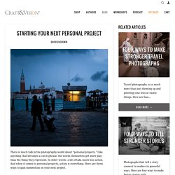 Starting Your Next Personal Project – Craft & Vision