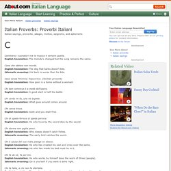 Italian Sayings Starting With The Letter C - Italian Proverbs Beginning With C