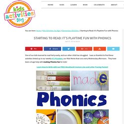 Starting to Read: It's Playtime Fun with Phonics