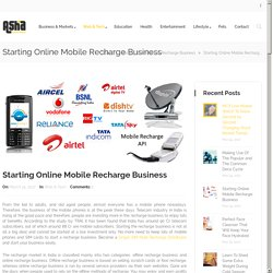 Start an Online Mobile Recharge Business