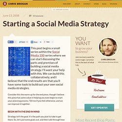 Starting a Social Media Strategy