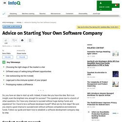 Advice on Starting Your Own Software Company