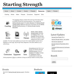 Starting Strength : Resources