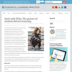 Starting With Why: The Power of Student-Driven Learning