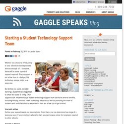 Starting a Student Technology Support Team