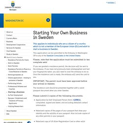 Starting Your Own Business in Sweden