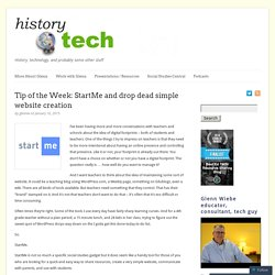 Tip of the Week: StartMe and drop dead simple website creation
