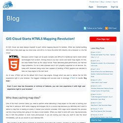 GIS Cloud Starts HTML5 Mapping Revolution! |
