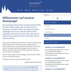 Joomla!® User Group Fulda - Startseite
