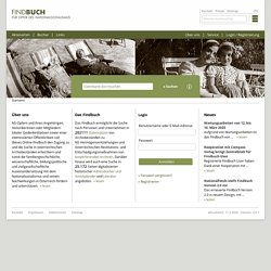 Startseite - Findbuch für Opfer des Nationalsozialismus