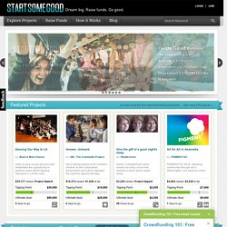 Welcome | StartSomeGood: Igniting Ideas, Investment & Impact.