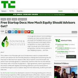 Free Startup Docs: How Much Equity Should Advisors Get?