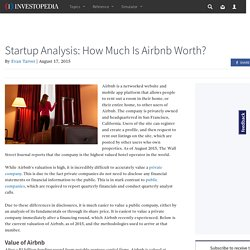 Startup Analysis: How Much Is Airbnb Worth?