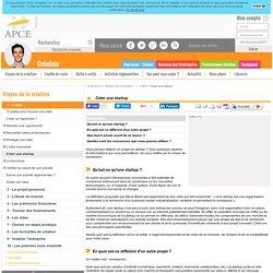 Créer une startup - APCE, agence pour la création d'entreprises