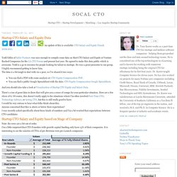 SoCal CTO: Startup CTO Salary and Equity Data