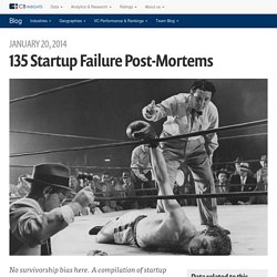 135 Startup Failure Post-Mortems