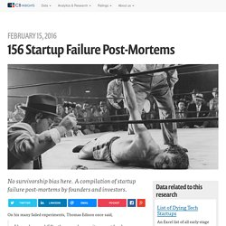 156 Startup Failure Post-Mortems