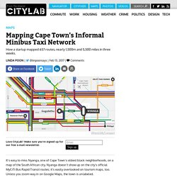 A Startup Is First to Map Cape Town's Informal Bus Network