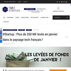 #Startup : Plus de 200 M€levés en janvier dans le paysage tech français !