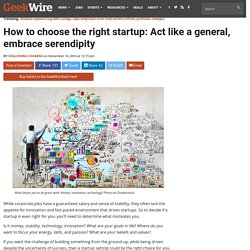 How to choose the right startup: Act like a general, embrace serendipity
