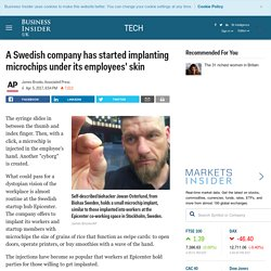 Swedish Co. Employees Offered Microchip Implants