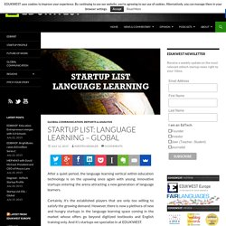 Startup List: Language Learning - Global