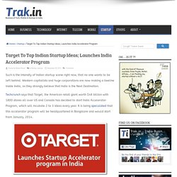 Target To Tap Indian Startup Ideas; Launches India Accelerator Program