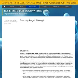 Startup Legal Garage