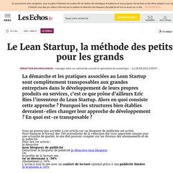 Le Lean Startup, la méthode des petits pour les grands, Le Cercle