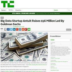 Big Data Startup Antuit Raises $56 Million Led By Goldman Sachs