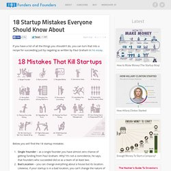 18 Startup Mistakes Everyone Should Know About