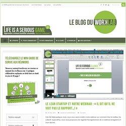 """Le lean startup et notre webinar : """"il dit qu'il ne voit pas le rapport...!"""""""