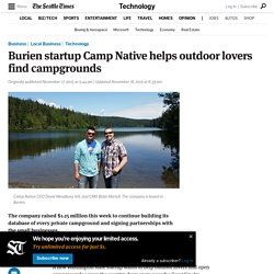 Burien startup Camp Native helps outdoor lovers find campgrounds