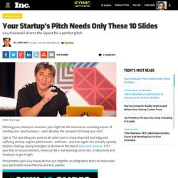 Your Startup's Pitch Needs Only These 10 Slides