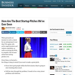 The Best Startup Pitches Of All Time