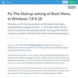 Fix The Startup setting of Boot Menu in Windows 7,8 & 10