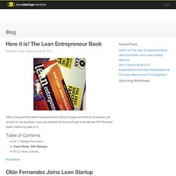 Blog « Categories « Lean Startup Machine