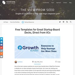 Startup Board Decks: Free Templates from VCs