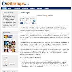 Startup Websites That Work