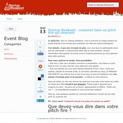 Startup Weekend : comment faire un pitch fire qui démonte