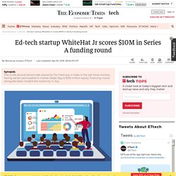 Ed-tech startup WhiteHat Jr scores $10M in Series A funding round